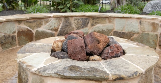 Natural Stone Fire Pit - Outdoor Fire Pits – Stone Concepts, Inc.
